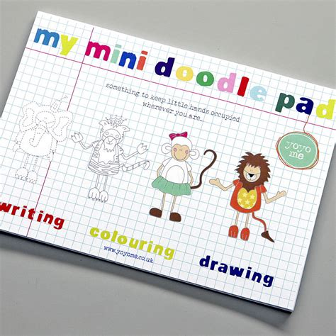 Mini Doodle Pad By Yoyo Me Notonthehighstreet