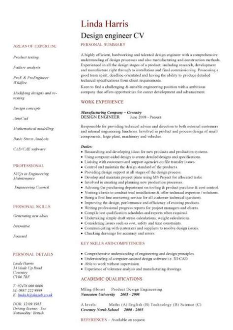 best cv exles for engineers engineering cv template engineer manufacturing resume industry construction