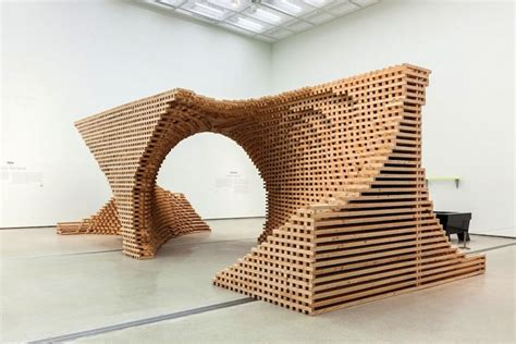 Pieces Of Architecture Complex Wooden Structure Composed Of 9 076 Pieces