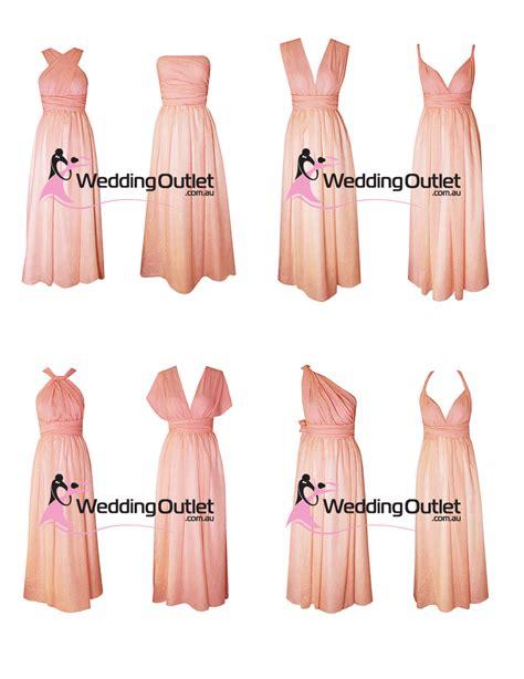 light pink wrap dress eight way twist and wrap dresses style u101