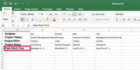 Workload Management Template In Excel Priority Matrix Productivity Workload Analysis Excel Template