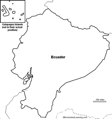 map of outline outline map ecuador enchantedlearning