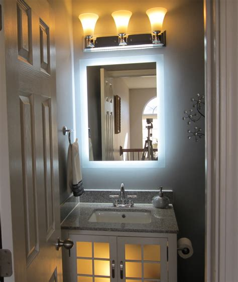 bathroom makeup mirror wall mount bath lighted makeup mirror wall mounted doherty house