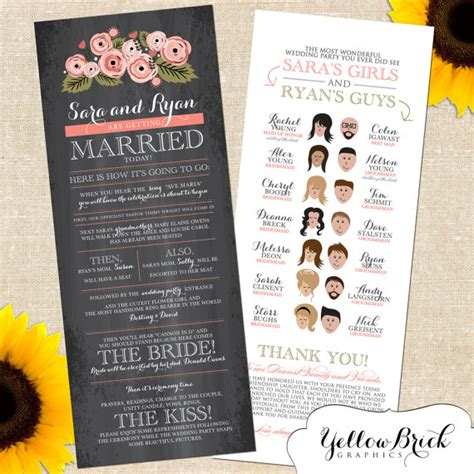 program ideas and creative wedding programs