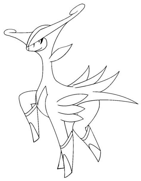 pokemon coloring pages virizion sta disegno di virizion da colorare