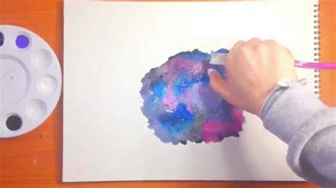 pics art galaxy tutorial galaxy watercolor painting tutorial funnydog tv