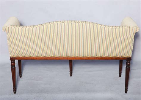 Narrow Settee upholstered settee in narrow form at 1stdibs