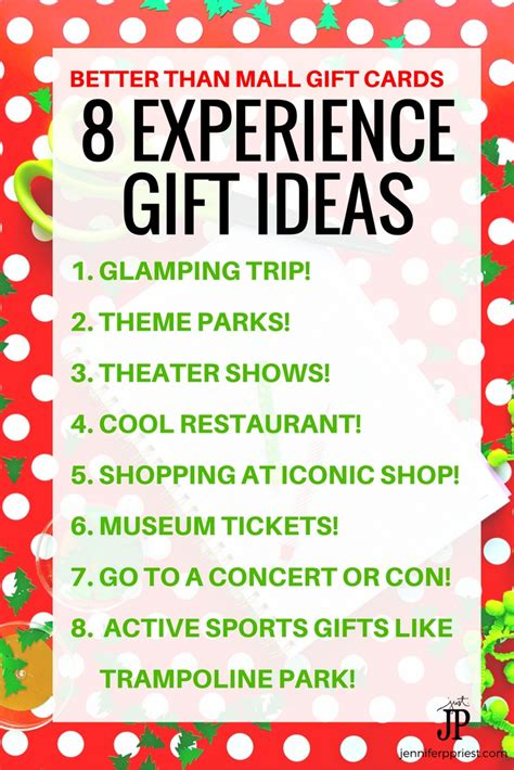 christmas gift experience ideas experience gifts 8 unique gift card and gift ideas smart diy