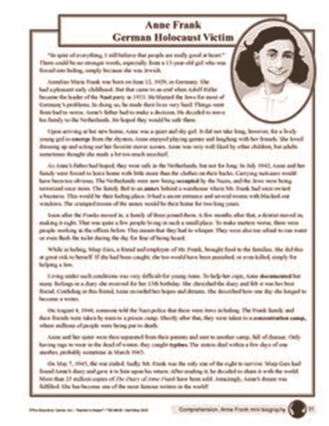 anne frank biography worksheet 1000 images about anne frank for zoie on pinterest