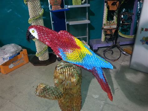 Origami Macaw Parrot - parrot of the jungle loro bird origami 3d