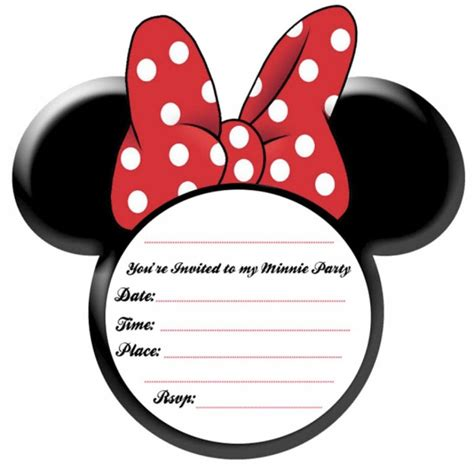 Mickey Template by Invitation For Minnie Mouse Template Invitations