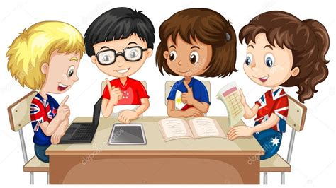 imagenes niños jugando en grupo ni 241 os y ni 241 as trabajando en grupo vector de stock