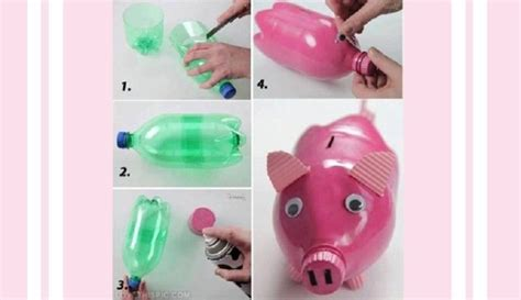 Celengan Babi Nungging Piggy Bank kreatif 5 barang lucu ini dari botol bekas bikin yuk