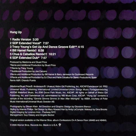 Madonna Japan Cd Single Hung Up car 225 tula interior frontal de madonna hung up cd single portada