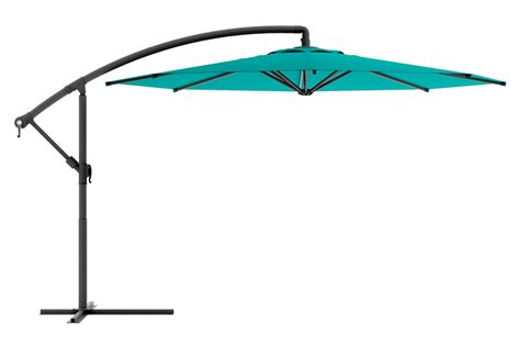 Turquoise Patio Umbrella Offset Patio Umbrella In Turquoise Blue At Gardner White