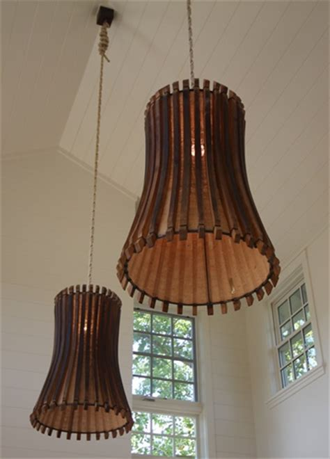 barrel light fixture wine barrel light fixture vortex recycled steel wine