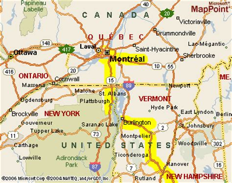 vermont canada border map sgc s 2005 trip to montral page 4