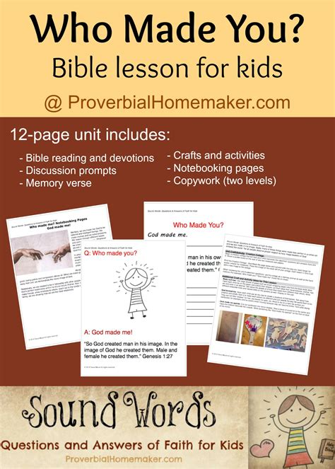 printable toddler bible lessons free who make you bible lesson for kids free