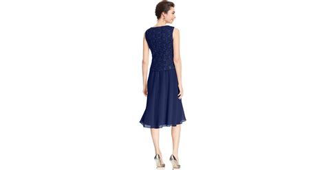 r m richards dresses r m richards r m richards sequin lace dress and jacket in blue lyst