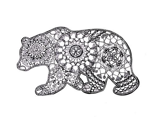 Bear Mandala Coloring Pages | drawings sammy photo