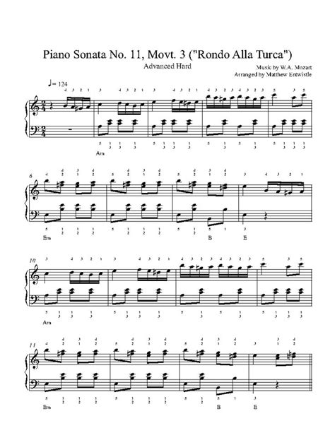 tutorial piano mozart 225 best playground advanced sheet music images on pinterest