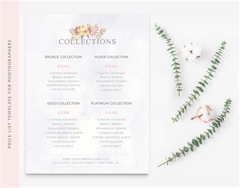 wedding price list wedding photographer price list template moi cherie