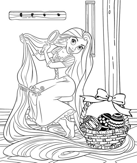 rapunzel coloring pages easy princess coloring pages easter coloring page of princess