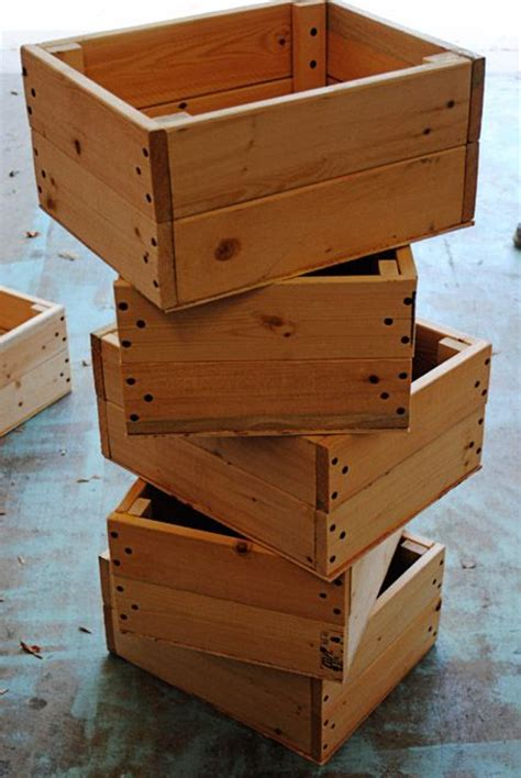 Decorating With Wooden Boxes by Decorating With Recycled Wooden Boxes Becoration