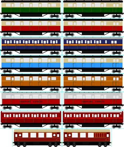 Tas Coach Set 3 In 1 Green Series Jj 1654 nwr express coach collection by cj the creator on deviantart