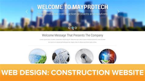 website tutorial website photoshop web design tutorial corporate construction