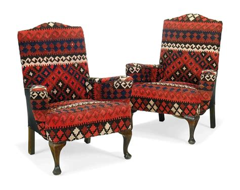 Second Armchairs by A Pair Of Kilim Covered Armchairs Second Quarter 20th