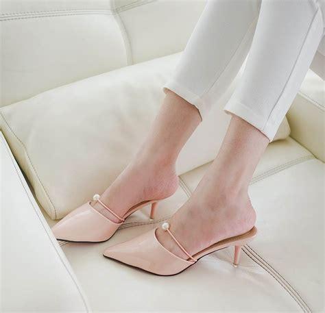 Highheels 23335 Heels Sepatu Import Fashion Shoes Wanita Korea jual sepatu sandal selop kerja pesta wanita korea import high heels shoes amelie butik