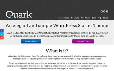 theme wordpress quark 21 best wordpress starter themes for developers in 2016
