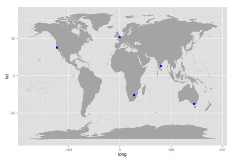 R Drawing Maps by R Beginners Plotting Locations On To A World Map R