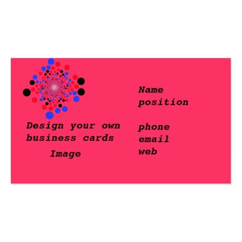 make your own picture cards business cards design your own zazzle