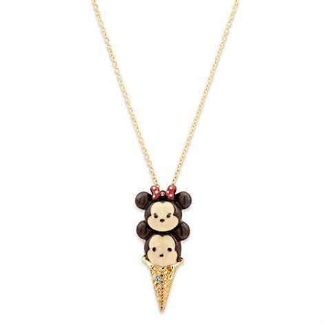 Tsum Tsum Creme Silver Tote mickey and minnie mouse tsum tsum necklace
