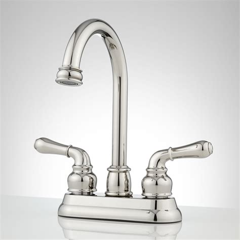 centerset bathroom faucet brannigan centerset gooseneck bathroom faucet bathroom