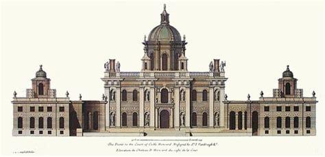 castle howard floor plan elevation plan of castle howard from vitruvius brittanicus