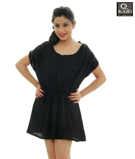 Ravishing Dresses by Buy Kazo Ravishing Black One Baggy Black Dress