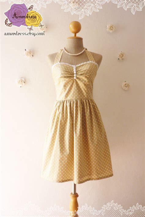 Simply Polka Dress bridesmaid dress simply khaki from amordress on etsy
