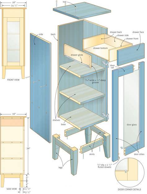 woodwork bathroom cabinet woodworking plans  plans