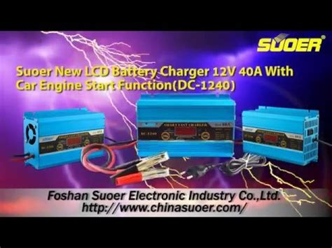 Suoer Fast Charger Dc 1230a 30a Suoer New Lcd Battery Charger 12v 30a With Car Engine