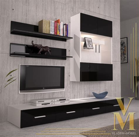 black wall units for living room wall unit living room furniture skadu v3 in white black