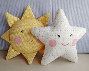 almofada sol e estrela patchwork doudous