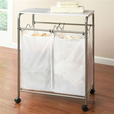 Laundry Sorter With Folding Table Pin By Amanda Wozny On Laundry Room