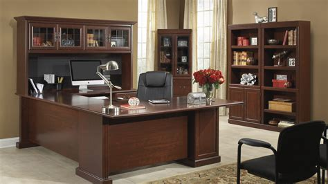 Executive Home Office Furniture Heritage Hill Collection File Cabinet Home Office Desk With Bookshelves And More