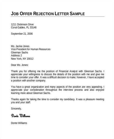 Rejection Letter Daily Mail employment offer letter template 6 free word pdf