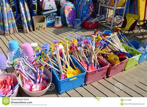 toys on sale toys for sale at a beach shop stock image image of