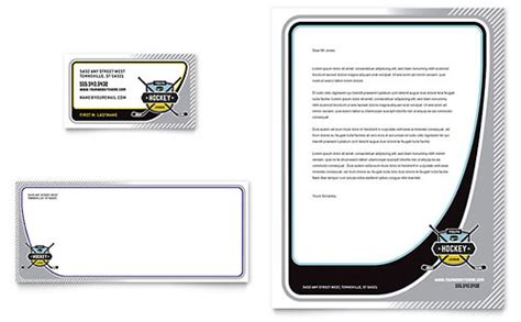 hockey card template microsoft sports fitness stationery templates word publisher