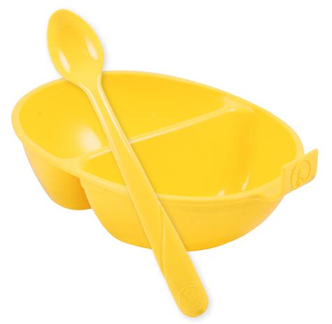 Dearya Divided Bowl With Handle Natura dandelion cornstarch divided infant bowl with spoon made from corn bpa free pvc free